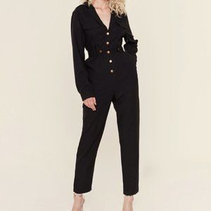 ASTR the Label Siobhan Black Jumpsuit XS NWT